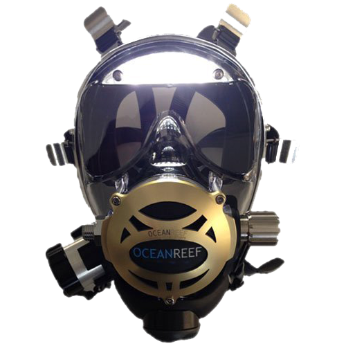Neptune Space Predator full face mask with visor lights
