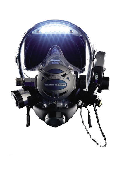 Neptune Space full face mask with visor lights