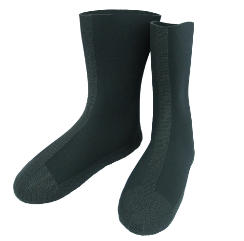 Dry suit socks, compressed neoprene
