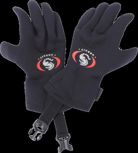 Buckle for neoprene gloves